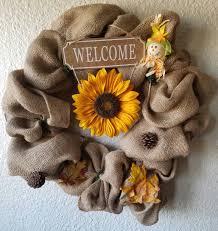 burlap sunflower wreath burlap wreath decor and much more