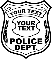 free police badge drawing new in style online awesome kids