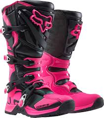 ebay womens boots size 12 fox racing comp 5 mx boots motocross black pink size 6