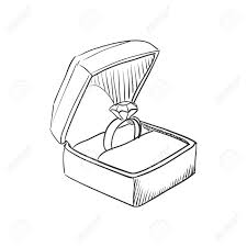 wedding rings drawing