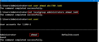 create local administrator account in windows server 2016 step by