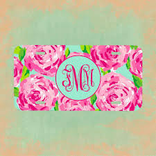 monogrammed plate lilly pulitzer license plate frame lilly pulitzer inspired