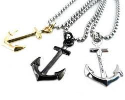accessories chain necklace images Anchor pendants on stainless steel ball chain necklace amigaz jpg