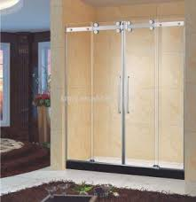framed bypass sliding shower door fits 48 inch opening clear