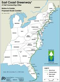 Fla Map East Coast Greenway Carves 3 000 Mile Bike Path From Maine To Fla