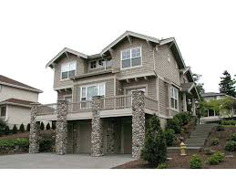 front sloping lot house plans house plans for hillside lots craftsman house plan for sloping