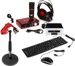 Custom Desk Accessories by Sweetwater Custom Computing Cs100 Recording Bundle With Audiobox