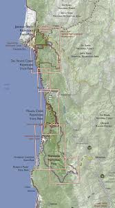 Castle Rock State Park Map by Redwood National And State Parks Trail Map
