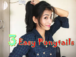 ladies new hairstyle 2016 three easy ponytails for college or girls youtube