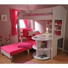 bunk beds for girls with desk lofted bunk bed couch desk storage area bedrooms pinterest