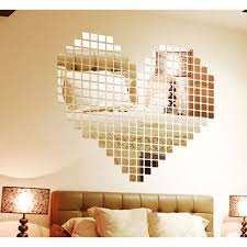 mirror decals home decor 100 mirror tile wall sticker 3d decal mosaic room decor stick on