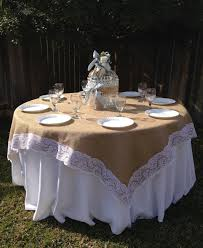 tablecloth for 54x54 table 54 x 54 inches burlap and white lace table overlay tablecloth