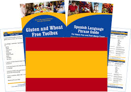 gluten free foods in madrid and spain with spanish translation