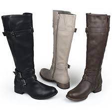 womens boots wide shaft buckle wide c d w boots for ebay