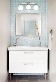 Glass Tiles Bathroom Ideas Bathroom Killer Small Modern Design Using Light Blue Glass Tile