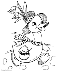 duck coloring pages easter 003