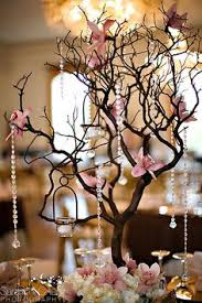 tree centerpieces beautiful seating card display table with a white tree and hanging