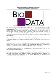 Resume Biography Sample by Cv Resume Resume Cv Biodata