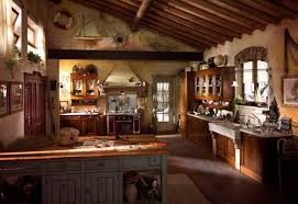 framed glass door wall kitchen cabinet rustic country kitchen