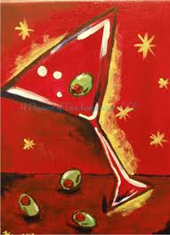 martini painting canvas painting gallery