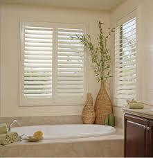 interior furniture decoration ideas outstanding white wooden indoor shutters for windows decoration home interior bathroom using rectangular soaking bathtub