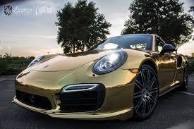 porsche chrome porsche turbo s gold chrome avery fs1 wm resize