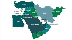 middle east map ppt middle east map powerpoint template background for presentation free