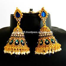 big jhumka gold earrings antique big jhumka earring jhumka earring one gram gold