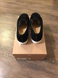 christian louboutin pik boat flat veau velours size 9 for sale