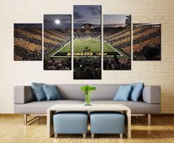 Football Room Decor Iowa Hawkeyes Football Sport Team Wall Painting Print On