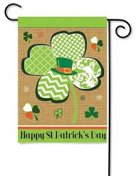 happy st s day outdoor decorative garden flags