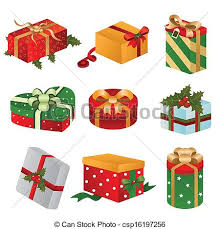 christmas present boxes clipart vector of different designs of christmas present boxes a