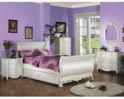 White Furniture In Bedroom Acme Furniture Sleigh Bed In Pearl White Ac01010tbed