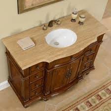 Bathroom Single Vanity by Accord 48 Inch Antique Single White Sink Bathroom Vanity
