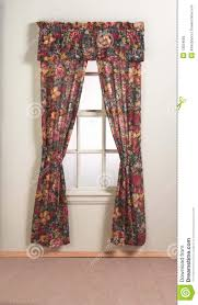 floral curtains on window royalty free stock photo image 13554665