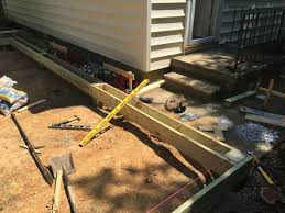 if i u0027m attaching a freestanding deck to cement landing is it ok