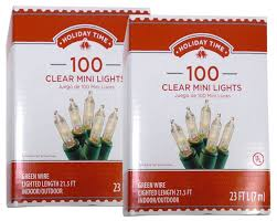 Amazon Com Holiday Wonderland 100 by Amazon Com Holiday Time 100 Clear Mini Lights Green Wire