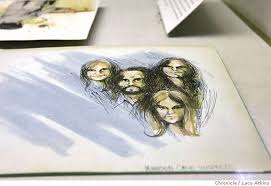 berkeley sketches from famous trials on exhibit charles manson