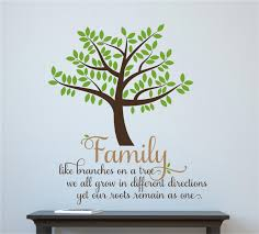 family like branches on a tree vinyl decal wall stickers letters
