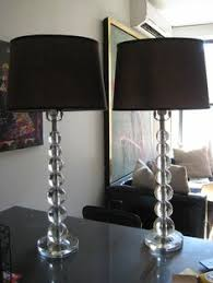 Black And Crystal Table Lamps Beekman Crystal Table Lamp Ethan Allen Us Zandpour Living Room