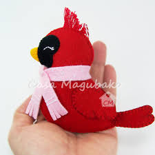 pdf pattern cardinal bird felt pattern decoration