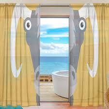 Sheer Door Curtains Aliexpress Com Buy Yellow Sheer Door Curtain Panels W55xl78 Inch