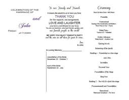 in memory of wedding program program help weddings planning etiquette and advice do it