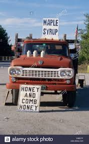 Classic Ford Truck Info - vermont maple syrup for sale along the side of road in old ford