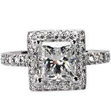 square cut halo engagement rings cannes square cut halo engagement ring ideals