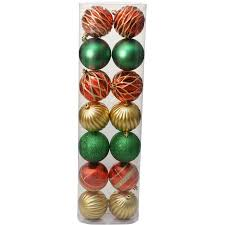 time ornaments traditional 80mm shatterproof