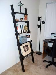 Leaning Shelf Bookcase Furniture Enchanting Bookshelves Walmart With Ladder And Cozy