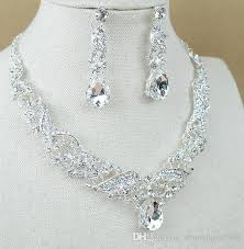 diamond style necklace images 2017 hot sell new style white diamond alloy necklace earring two jpg