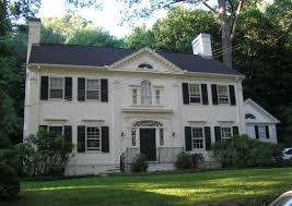 colonial revival style home historic buildings of connecticut blog archive the clyde m