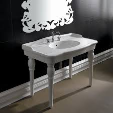 kingston brass console sink console sink with chrome legs elegant kingston brass console table